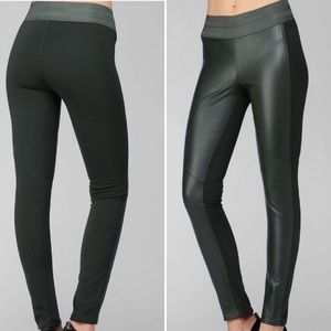 PAIGE leather front leggings Medium high waist